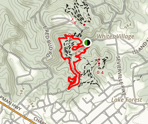 View Park, Yellow Jacket and Sink Hole Trail Loop Map