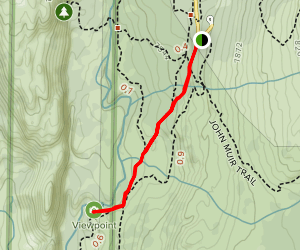 Red's Meadow to Rainbow Falls Overlook Map