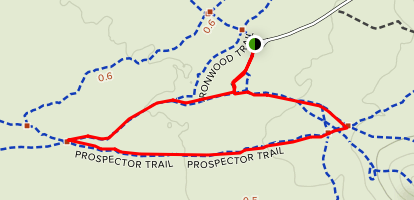 Ironwood, Prospector and Caliche Flats Loop Map