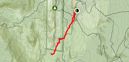 Red Meadow Resort to Lower Falls Map