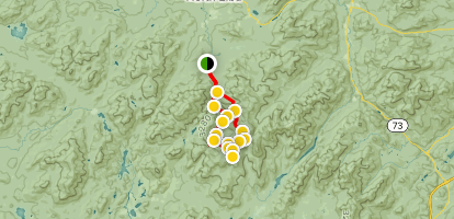 Mount Skylight, Mount Marcy, and Gray Peak Loop Trail Map