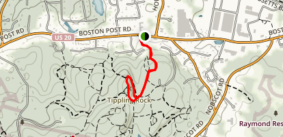 Tippling Rock to Bay Circuit Trail Map