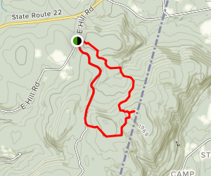 Harvey Mountain Loop Map