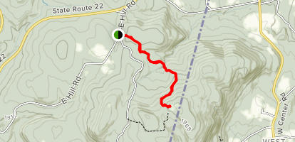 Harvey Mountain Trail Map