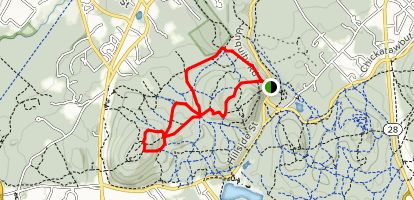 Breakneck Ledge, North and South Skyline Trail, Cotton Hollow Path, and Chestnut Run Path Map