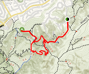 Weir Canyon to Robbers Peak and Deer Trail Map