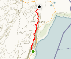 Dead Sea Hike from Ovnat to Almog Map