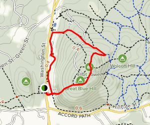 Skyline Trail to Elliot Tower to Accord Path Map