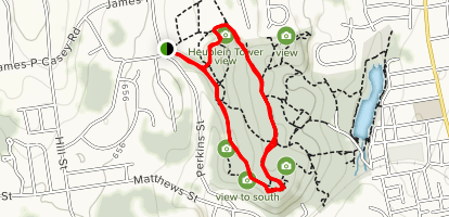 Shady Dell Road, Glacier Trail and Old Colonial Road Loop Map