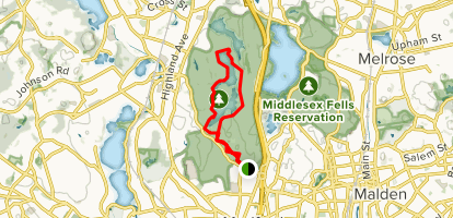 South and Middle Reservoirs via South Border Road Trail Map