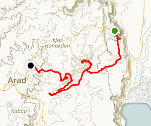 2 days from Masada to Arad Map