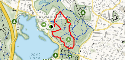 Crystal Springs and Whip Hill Road Loop Map