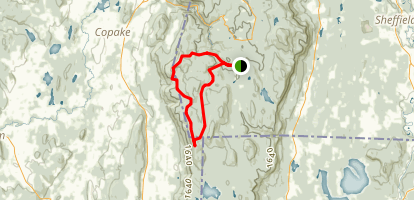 Alander Mountain and Brace Mountain Loop Map
