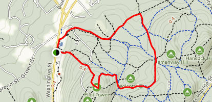 Coon Hollow and Wolcott Path Loop Map
