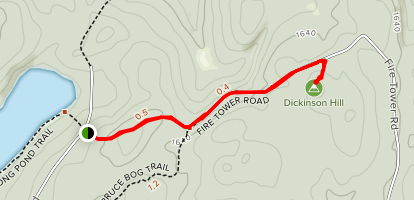 Dickinson Hill Fire Tower Trail Map