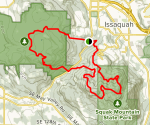 Wilderness Peak and Squak Mountain Loop Map