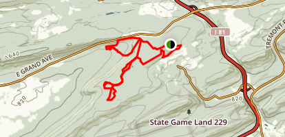 Rausch Creek Off Roading Trails Map