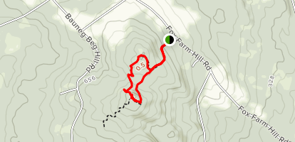 Bauneg Beg Middle Mountain Trail Map