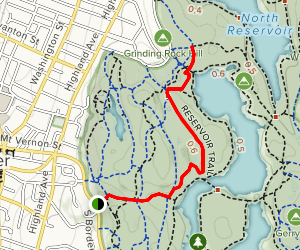 Molly Springs Road to Reservoir Trail Map