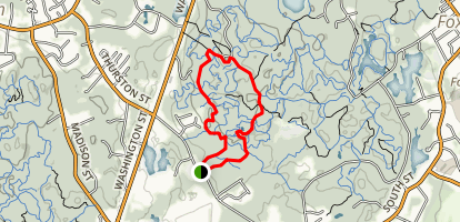 High Rock via Megley and High Rock Trail Loop Map