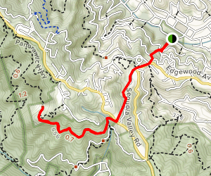 Tourist Club via Dipsea Steps-Sun Trail Map