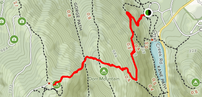 Cadilac Mountain via Visitor Center Map