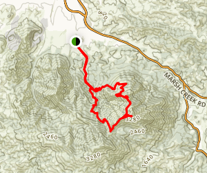 Donner Canyon Road to Middle, Prospector's Gap, North Peak and Mount Olympia Loop Map