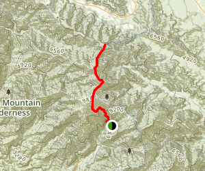 Wright Mountain From Manker Flat Map