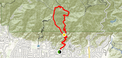 Mount Wilson Jones Peak Semi Loop Map