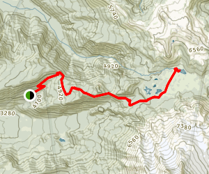 Russell Lake via Whitewater Trail and Pacific Crest Trail Map