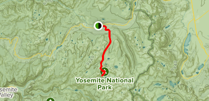 Tuolumne Meadows to Vogelsang Pass Map