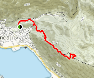 Mount Roberts Trail to Father Brown Cross Map