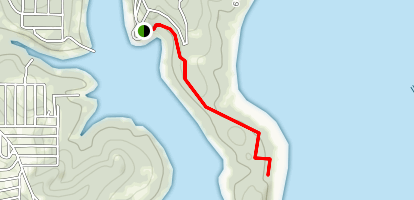 Burnt Cabin Cliff Hike Map