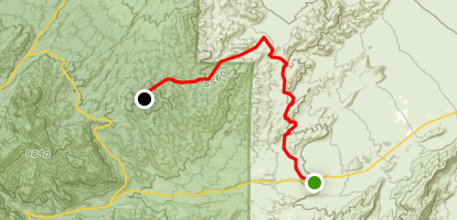 Lucky Strike Trail Map