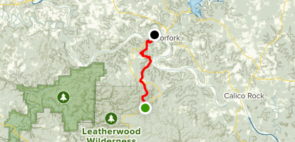 Ozark Highlands Trail: Sylamore Section Brush Creek to Matney Knob Map