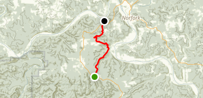 Ozark Highlands Trail: Twin Creek to Matney Ridge Map