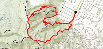 Native Oak Trail to Coyote Trail Loop Map
