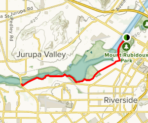 Santa Ana River Trail via Mount Rubidoux Park Map