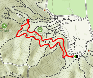 Griffith Park Old Zoo Loop Map
