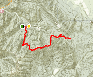 South Fork to Packard Canyon Trail Map