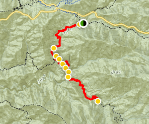 Gabrelino Trail to Switzer Falls and Bear Canyon Camp Map