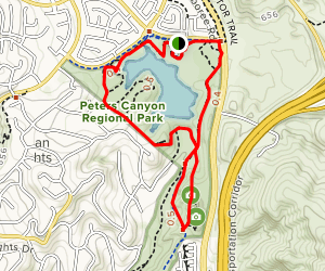 Lake View, Gnatcacher, East Ridge View and Peters Canyon Loop Map