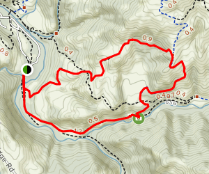McCorkle Trail to Camp Ohlone Road Loop Map