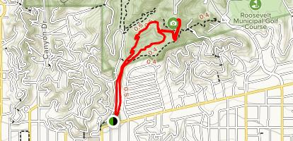 Ferndell to the West Observatory Loop Trail to Griffith Observatory Map