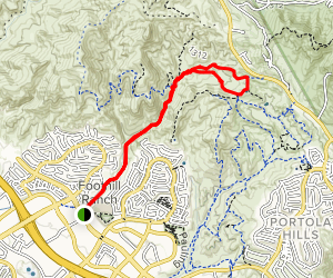 Borrego Canyon Trail to Billy Goat Loop Map