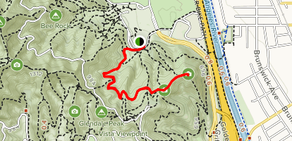 Griffith Park Merry Go Round to Beacon Hill Map