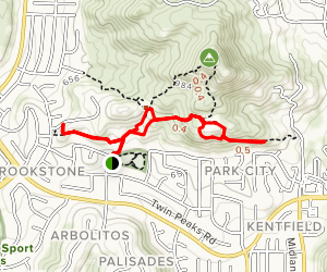 Lower Twin Peak Trail Loop Map