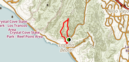 Laguna Bowl and Water Tank Road Loop Map
