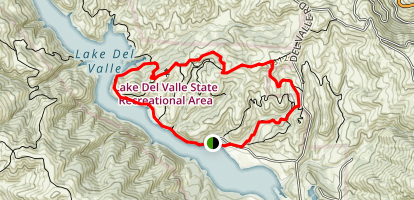 East Shore, Ridgeline, East Ridge Loop Map