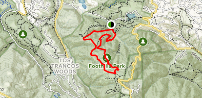 Los Trancos, Trappers Fire Road and Steep Hollow Loop Map